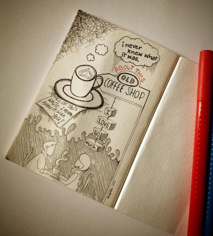 For the love of coffee shops.   https://www.facebook.com/HandmadeByMalvika/photos/a.570494686439084.1073741836.334849910003564/485750934913460/?type=3