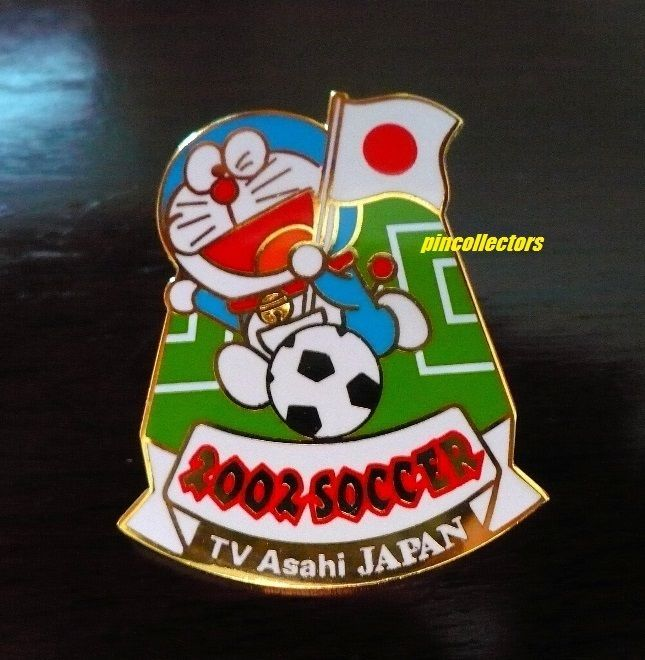 TV Asahi Doraemon FIFA Soccer World Cup 2002 Japan Media Pin Not Rio Olympics  | eBay