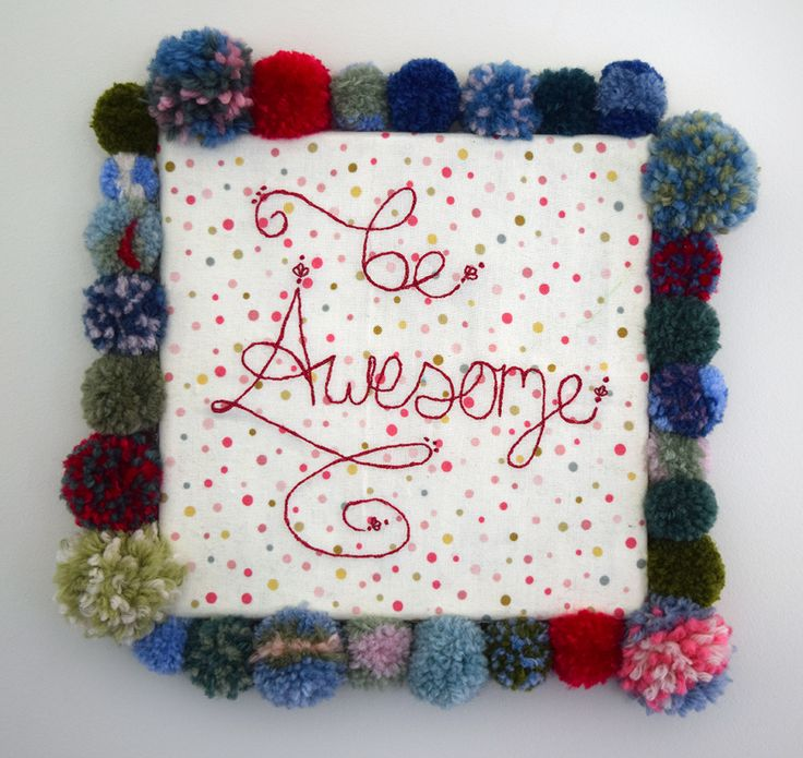 'Be Awesome' Canvas - Handmade Machine Embroidery Wall Hanging!  https://www.etsy.com/listing/243530405/be-awesome-canvas-handmade-machine?ref=shop_home_active_2