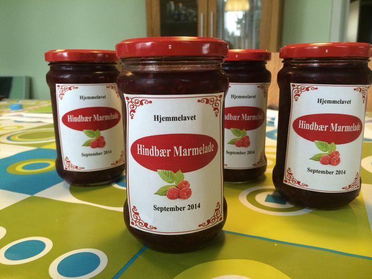 Homemade Raspberry Jam Recipe here: http://bondig.dk/hindbaer-marmelade-opskrift/