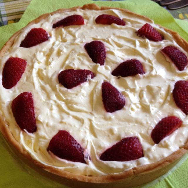 Torta chantilly e fragole