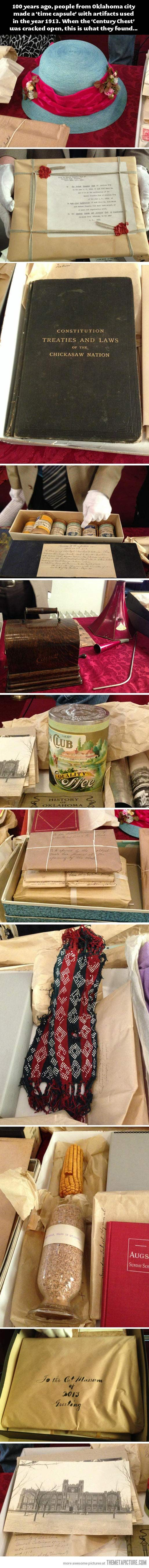 100 years ago, a time capsule was made. These are its contents…