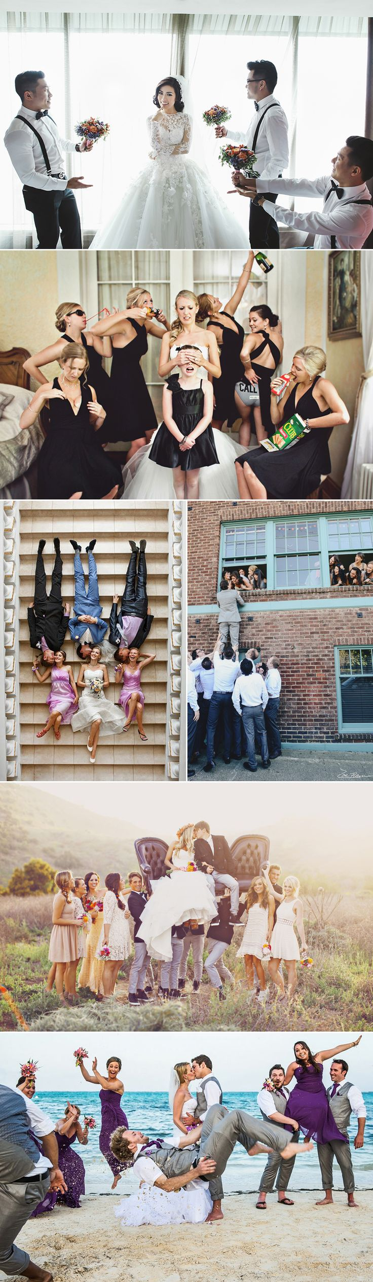 Classic bridal party and group photos are necessary, but after hours of standing perfectly composed, you deserve something fun and creative! Capturing group photos is a challenge that involves great composition skills, and sometimes it's hard to come up with fresh, new ideas that are outside of the box when you need to fit so …