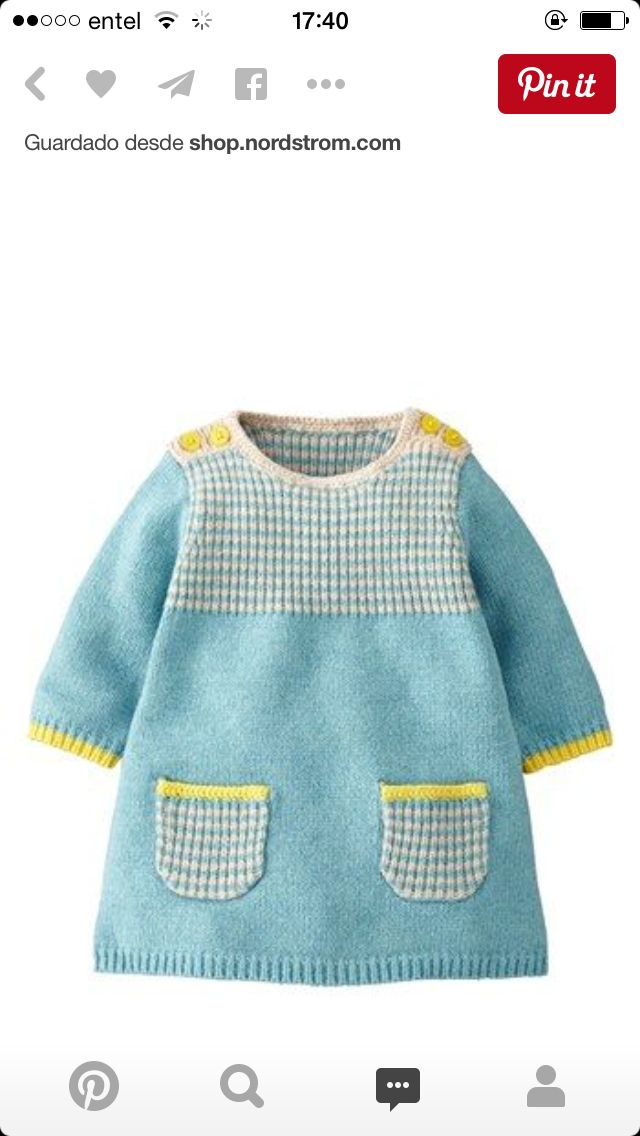 Knitting Pattern Jumper Dress : 1238 best images about bebek orgu on Pinterest Knitted baby, Baby cardigan ...