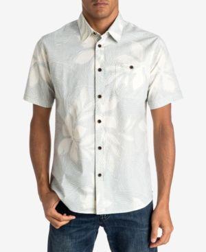 Quiksilver Waterman Men's Sunburst Floral-Print Shirt  - White XXL