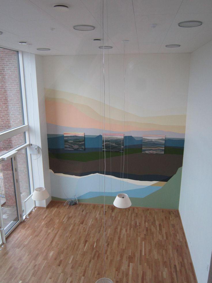 Plejecenter Trekroner vægmaleri udført