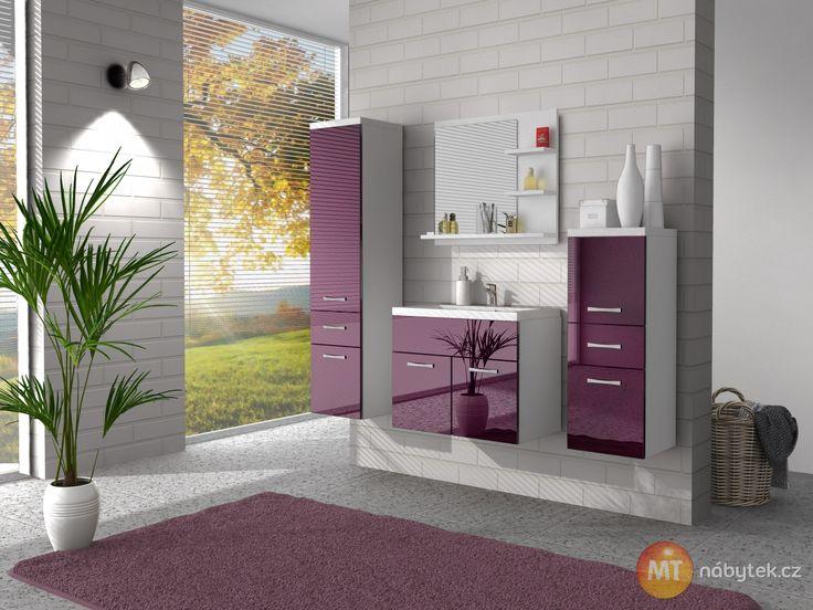 Moderní sestava koupelnového nábytku Horace 4, lamino
