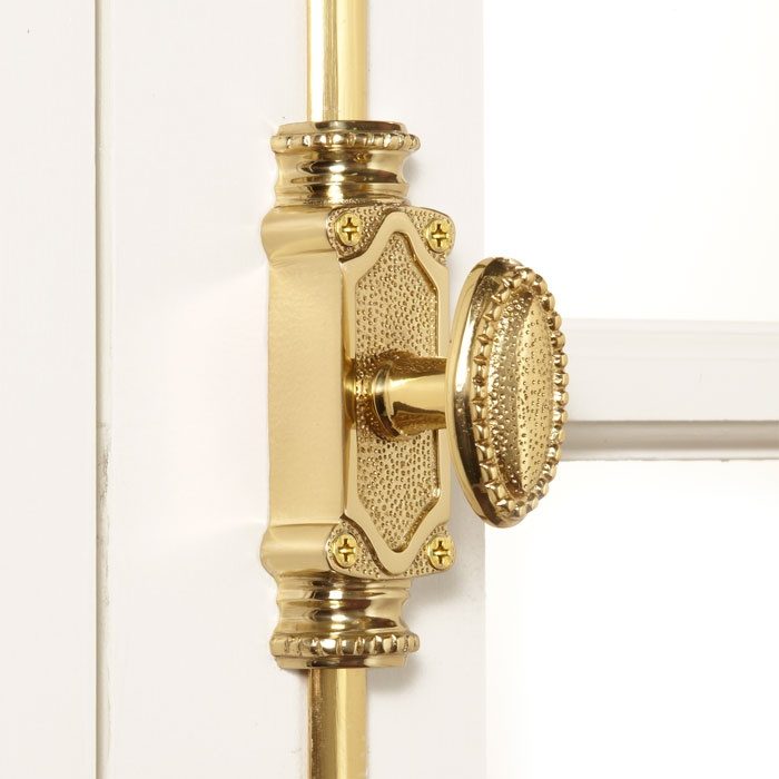 Solid Brass Beaded Window Cremone Bolt