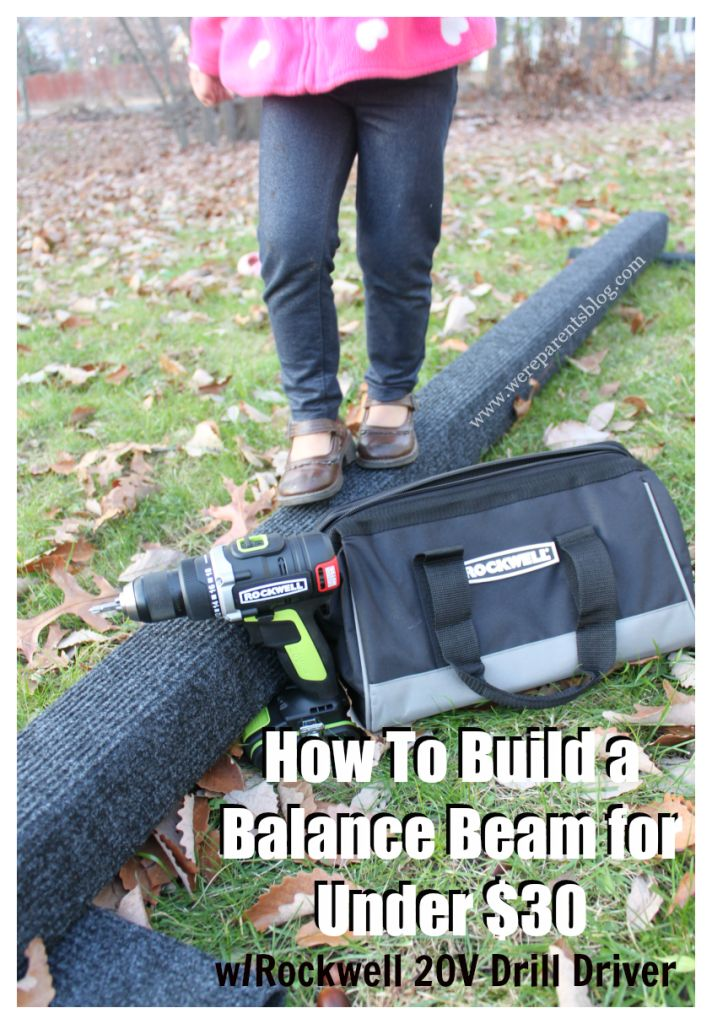 The perfect gift for toddlers and kids!  We teach you how to build a balance beam for under $30 using Rockwell's 20V Drill Driver