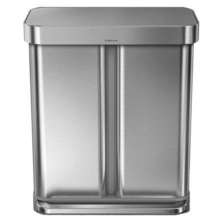 Simplehuman Dual Recycling Bin + Liner Pocket - 58L - Binopolis