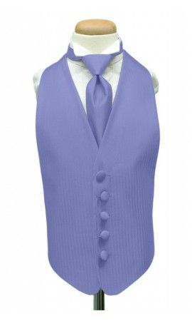 Cornflower Herringbone Kids Tuxedo Vest