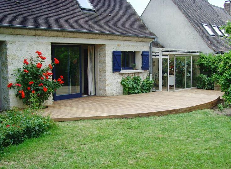 bois en ipé à biganos plus bassin extérieur terrasse terrasse bois