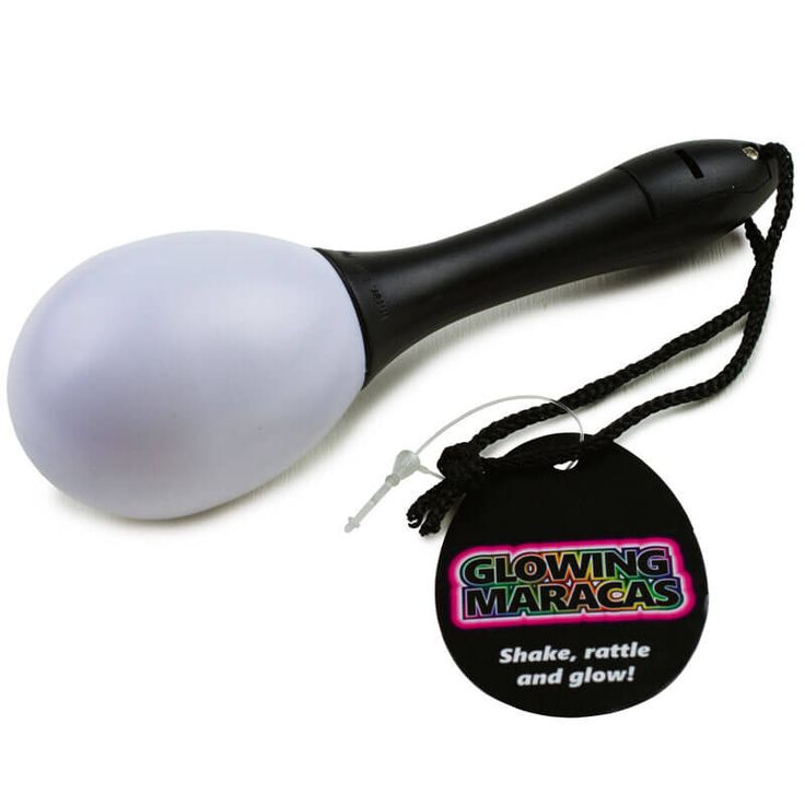 Light Up Maracas Shake and glow to the music! Assorted super bright LED colours that brighten and then fade to the music and come in a display box. Requires 3 x AG3 batteries included. (Barcode EAN=5023664101055) http://www.MightGet.com/january-2017-13/unbranded-light-up-maracas.asp