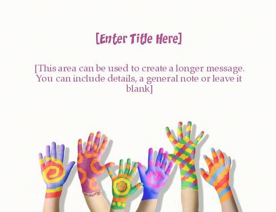 Holi Hands2 | Holi Invitation, e-Card greeting | EventEve.com