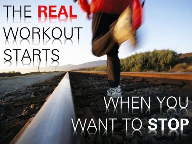 Running Motivation: The real workout starts when you want to stop.  Train for a marathon.