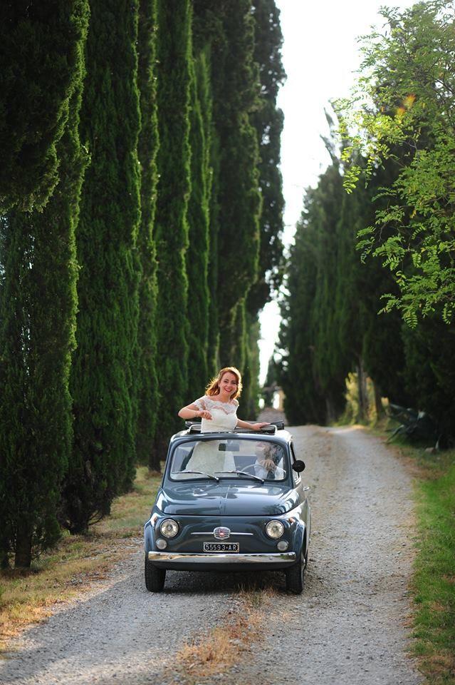 Tuncany is a path, love is the engine  #weddingfoto #fiat500 #brideandgroom