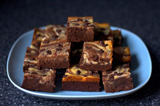 Audrey made these the other night---delicious!!  cheesecake marbled brownies by smitten, via Flickr