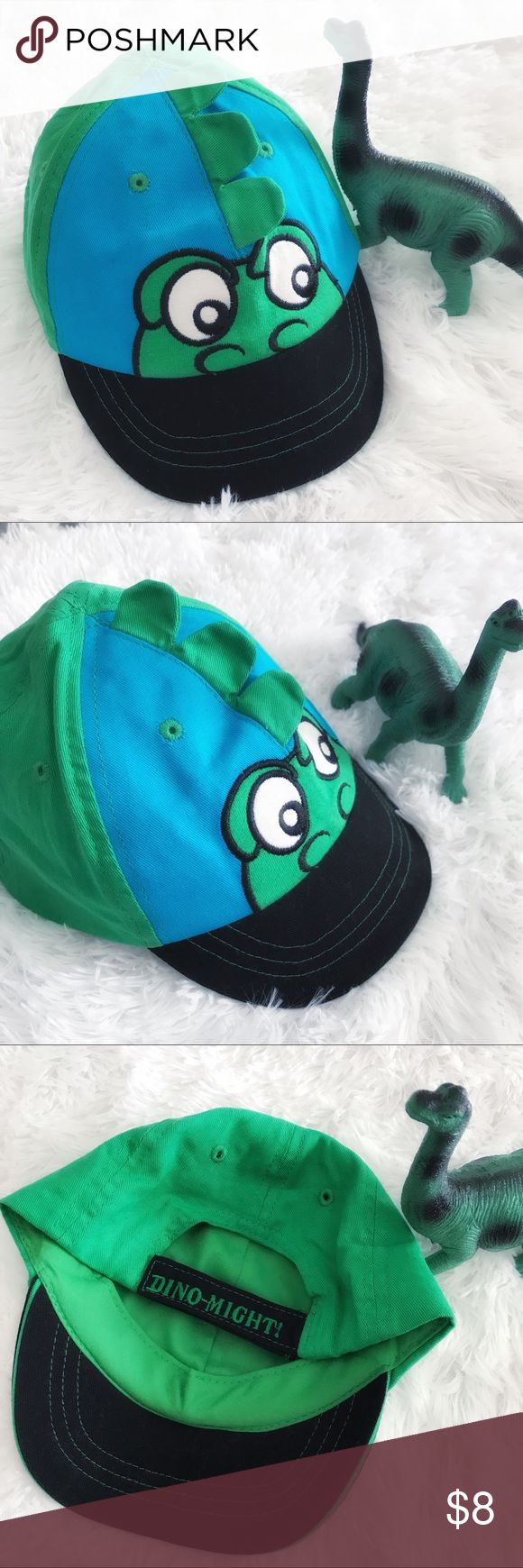 "🦕 •Adorable Kids Dino Cap• 🦕 •Adorable Kids Dino Cap• 🦕 In perfect condition; no flaws  🦕 One Size •18.5"" circumference• 🦕 Velcro fastener to increase/decrease circumference  🦕 Bundles are Discounted  🏆Ambassador ⭐️Trusted Seller  ☕️Thanks for shopping my closet Toby NYC Accessories Hats"