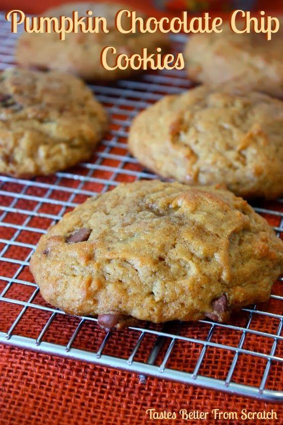 The BEST Pumpkin Chocolate Chip Cookies!