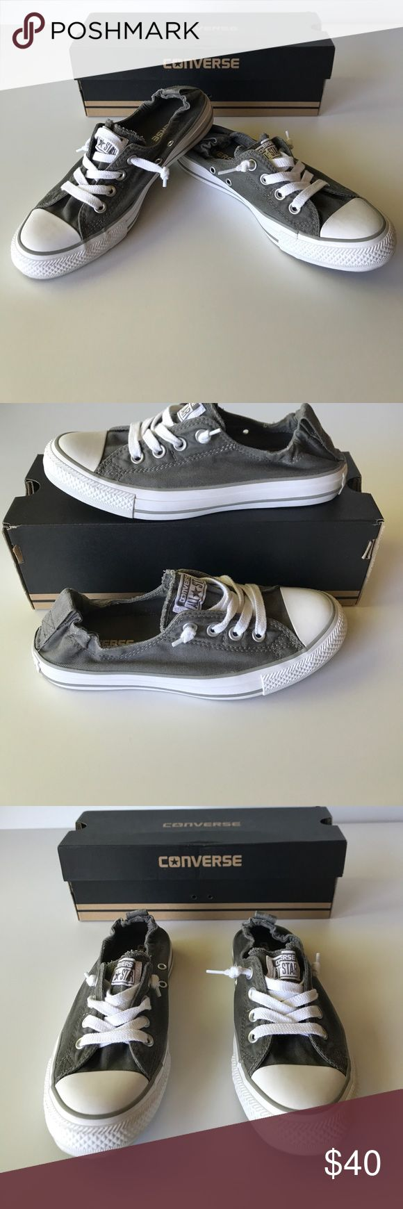 Converse Chuck Taylors  Gray - Womens Size 7 Converse Chuck Taylors/ Shoreline Charcoal Gray and White. NWT and box. Womens Size 7. Converse Shoes Sneakers
