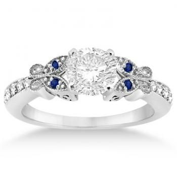 engagement attachment of blue for heart butterfly diamond wedding viewing photo gallery with white ring rings gold