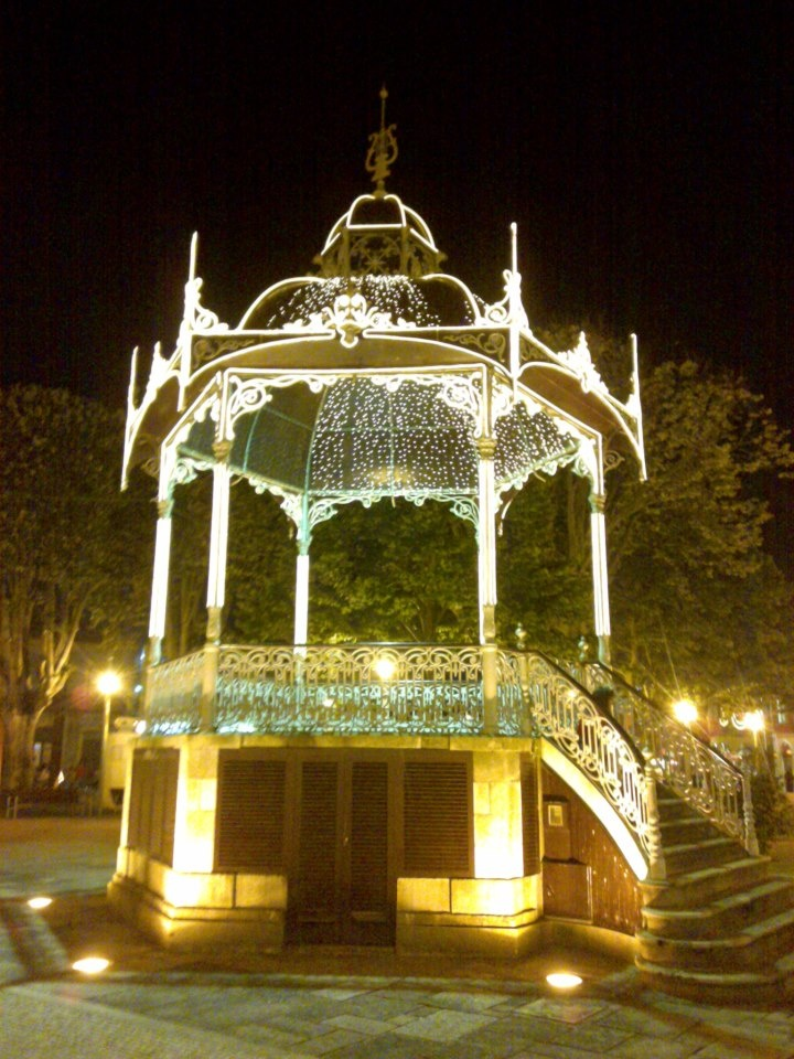 Band stand in the park, Povoa de Varzim, Portugal
