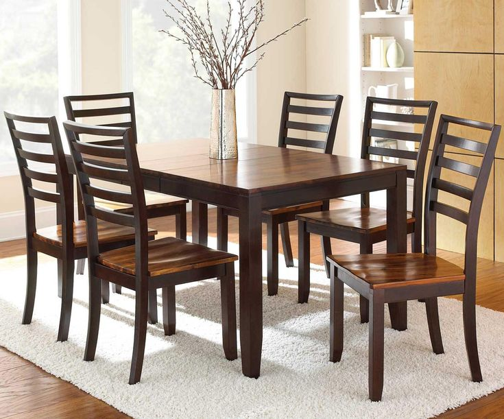 Abaco 7 Piece Leg Table and Ladder Back Chairs by Steve  : 3a56ee59c733f84e2aed7ee7fd5eb33e solid wood dining table on dining from www.pinterest.com size 736 x 611 jpeg 90kB