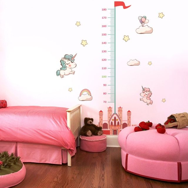 Measure Height Gauge Baby Wall Sticker Bedroom Wall Sticker For