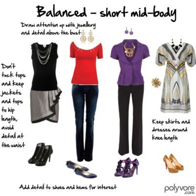 Dressing for your body shape - balanced with a short mid-body.