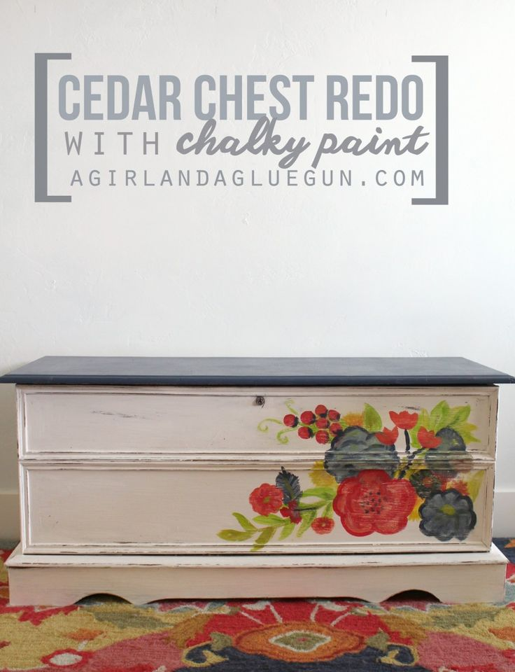 Cedar Chest Redo And How To Use Chalky Paint For The First Time