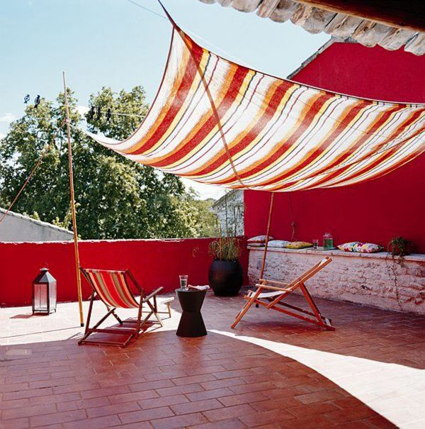 Donner des airs de tente à sa terrasse