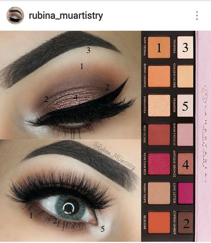 Look by Rubina MUartistry using the ABH Modern Renaissance Palette                                                                                                                                                                                 More