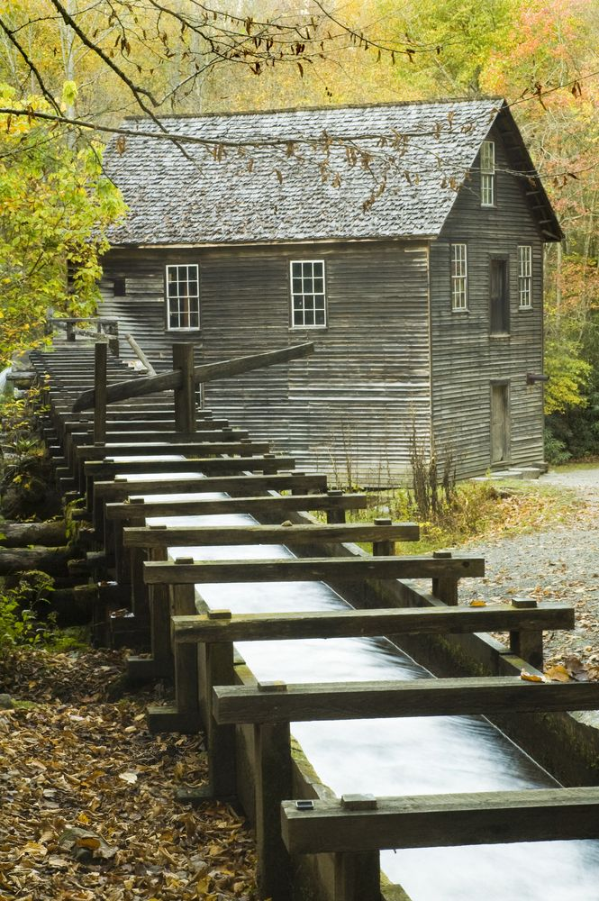 Mingus Mill was built in 1886, this historic grist mill uses a water-powered turbine instead of a water wheel to power all of the machinery in the building