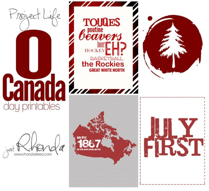 PROJECT LIFE FRIDAYS – CANADA DAY from Rhondasteed