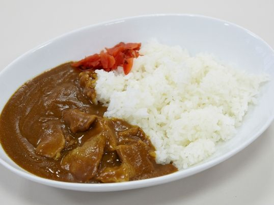 Japanese curry (カレー:kare) is one of the most popular dishes in Japan, where people eat it an average of 84 times a year.It is usually eaten as karē raisu — curry, rice and often pickled vegetables, served on the same plate and eaten with a spoon, a common lunchtime canteen dish. It is less spicy and seasoned than Indian and Southeast Asian curries, being more of thick Japanese stew than a curry.