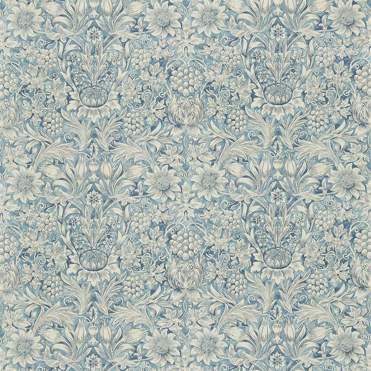 The Original Morris & Co - Arts and crafts, fabrics and wallpaper designs by William Morris & Company | Products | British/UK Fabrics and Wallpapers | Sunflower (DMFPSU203) | Morris Fabric Compilation