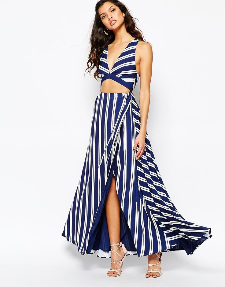 The Jetset Diaries Palace Maxi Dress in Stripe. Summer elegant wedding