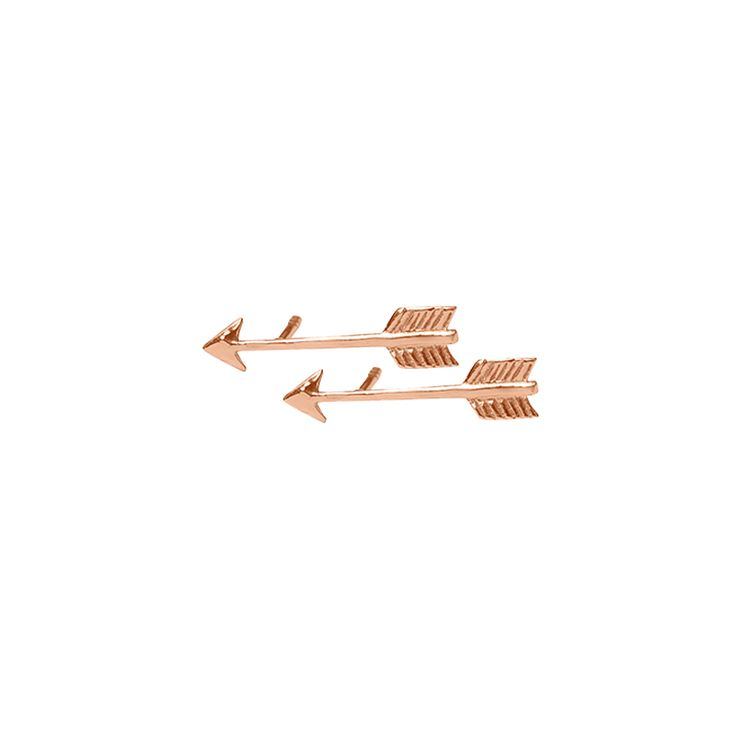 Arrow Stud Earrings in Rose Gold . Available online at www.murkani.com.au