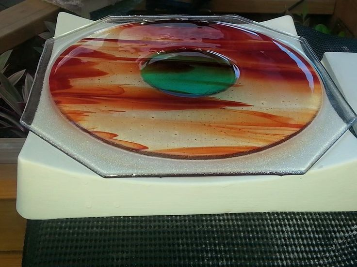 Platter ready for slumping