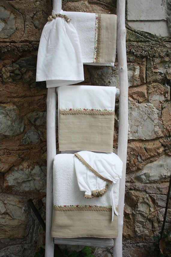 Συλλογή Βάπτισης Country Bird #Σετ Λαδόπανα #Λαδόρουχα  #Baptism #Christening Undergarment Set #Ladopana #Chrisoms #Towel Set #Christening Contents #Lathopana #Linen Baptism Towel Set #Country Bird Baptism Set