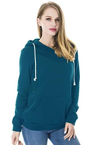 6e5d27c97d8a8 New Smallshow Smallshow Women's Fleece Maternity Nursing Sweatshirt Hoodie  Kangaroo Pocket Women's Fashion Clothing online.