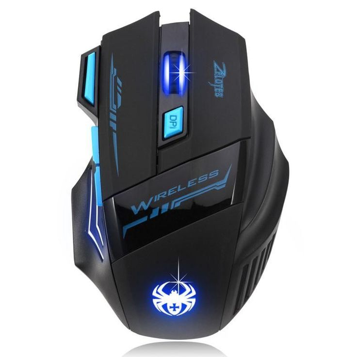 Adjustable 2400DPI Optical Wireless Gaming Game Mouse For Laptop PC