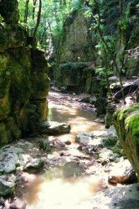 tavasz - Bakonynána, Gaja-patak, Római fürdő (szurdok)