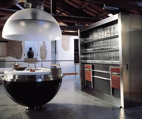 The Sheer Kitchen, By Gatto Kitchens, Italian Designers, Of Course. Not  Sure How Functional It Would Be For A Real Chef, But Itu0027s So Cool.