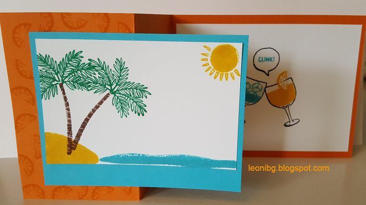Totally trees stampset in the sun. Knutselen met LeoniBG : Herfst/winter catalogus bloghop Creatieve Harten