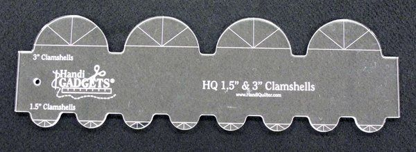"""HQ 1½"""" & 3"""" Clamshell Template"""