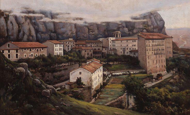 Monestir de Montserrat by Vayreda