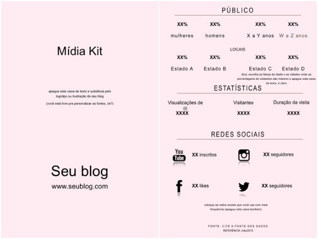 Como fazer um Mídia Kit + Modelos de Mídia Kit - Frescurinhas Femininas