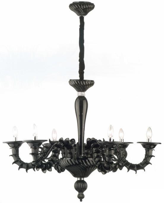 lampadari murano moderni CA-REZZONICO-NERO #lampadario #murano #online