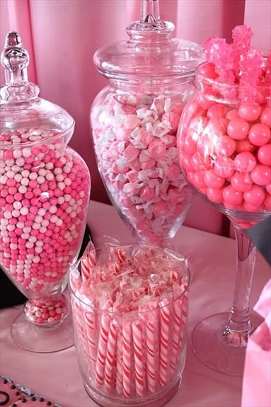 Candy bar - great idea for those who don't want cake, or if kids are at the wedding. Do candie's within your wedding colors.
